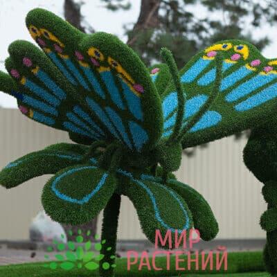 Топиарная фигура Бабочка на ромашке (голубая)