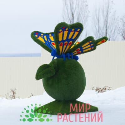 Топиарная фигура Бабочка на яблоке (разноцветная)