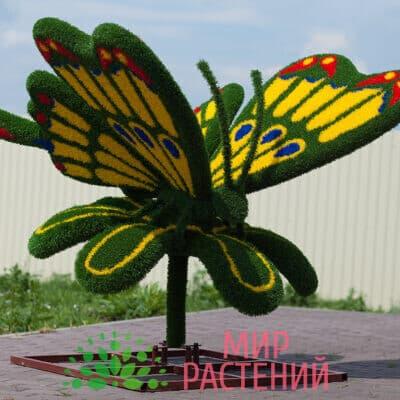 Топиарная фигура Бабочка на ромашке (жёлтая)