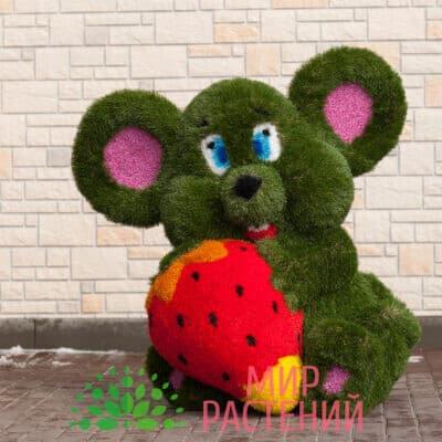 Топиарная фигура Мышка с клубникой